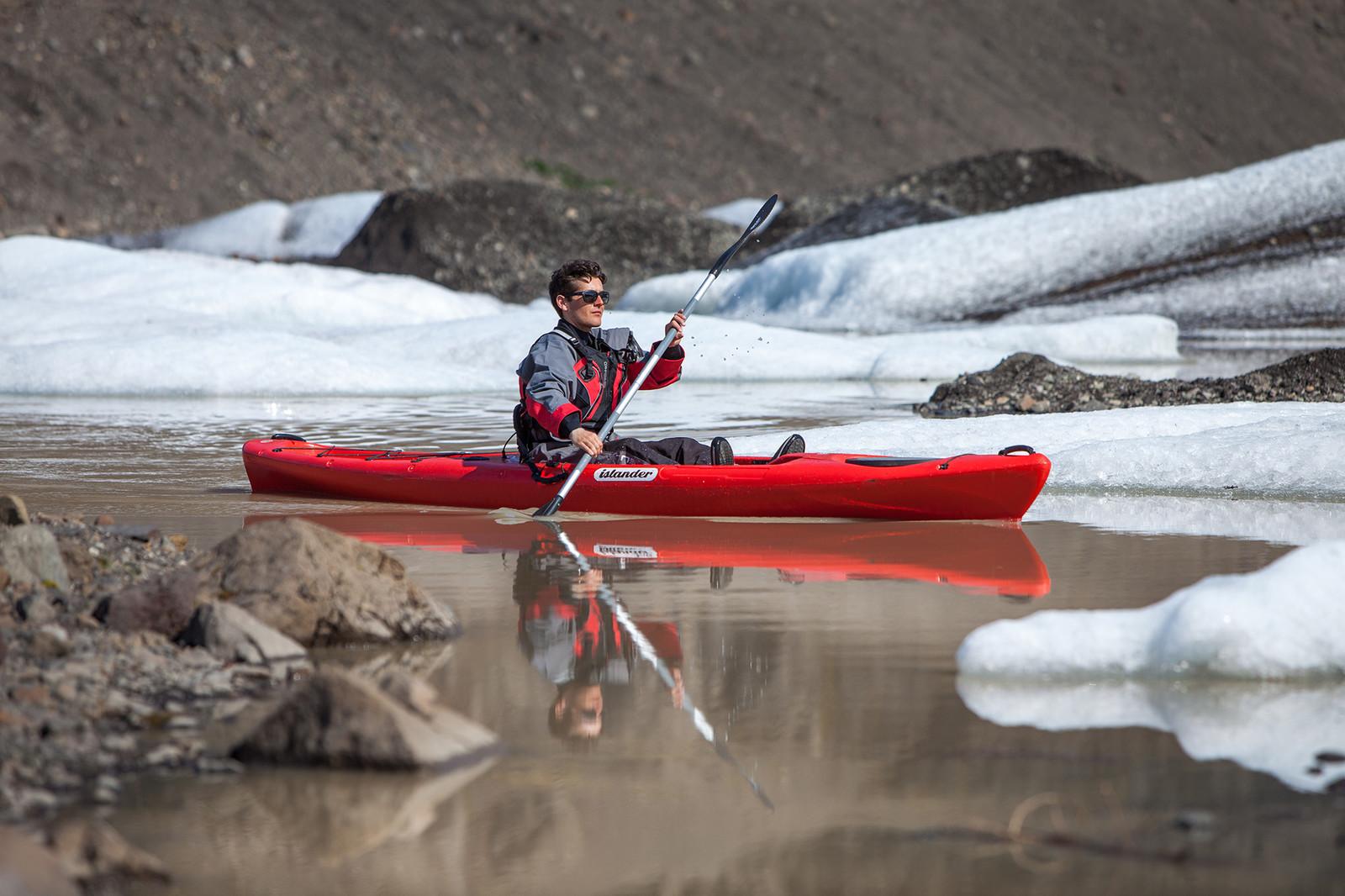 Kayaking Tour by Solheimajokull Glacier | Icelandic Mountain