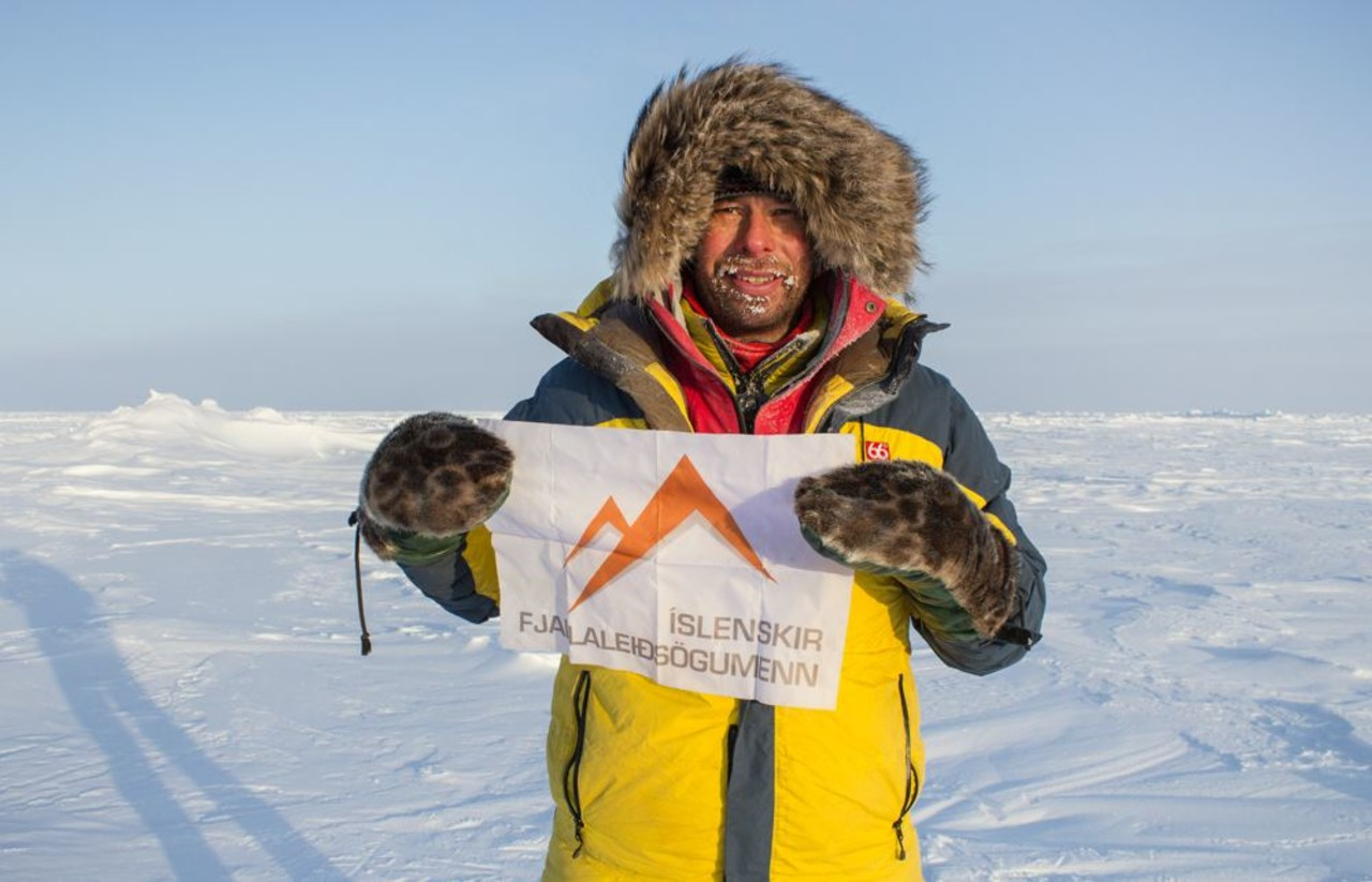 Leifur Örn Svavarsson at the end of the expedition on the South Pole on a tour with Icelandic Mountain Guides