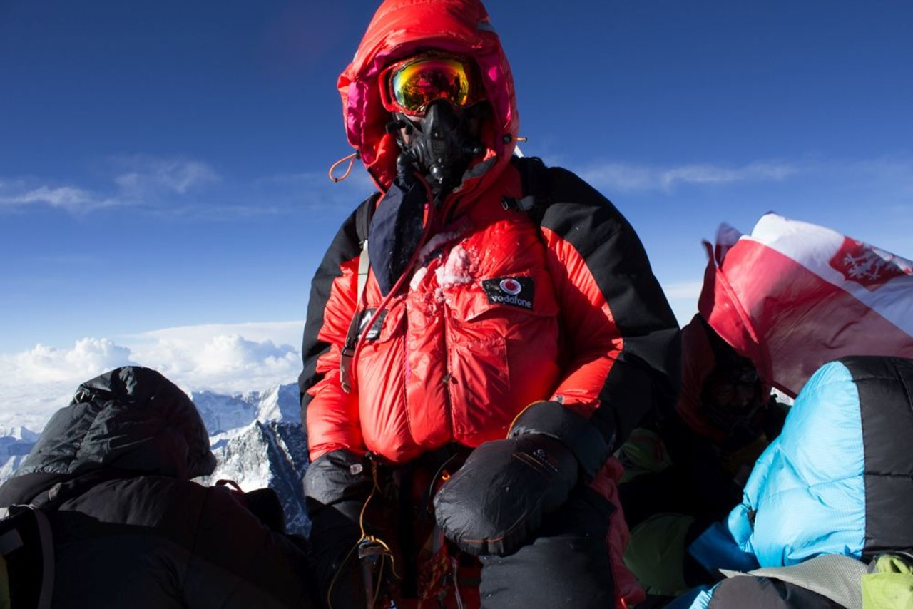 Leifur Örn Svavarsson on top of Mt Everest