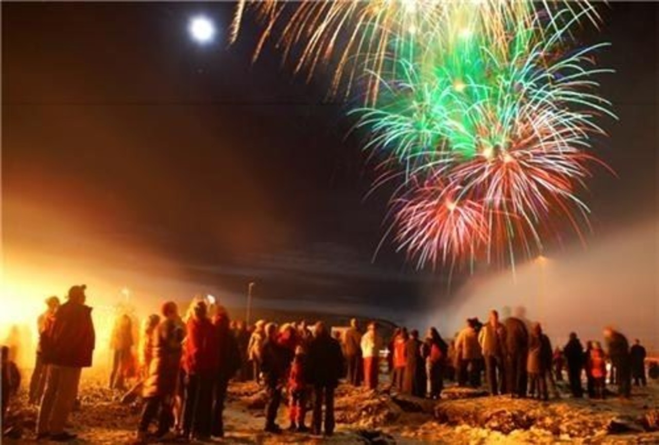 Fireworks in Reyjkavík