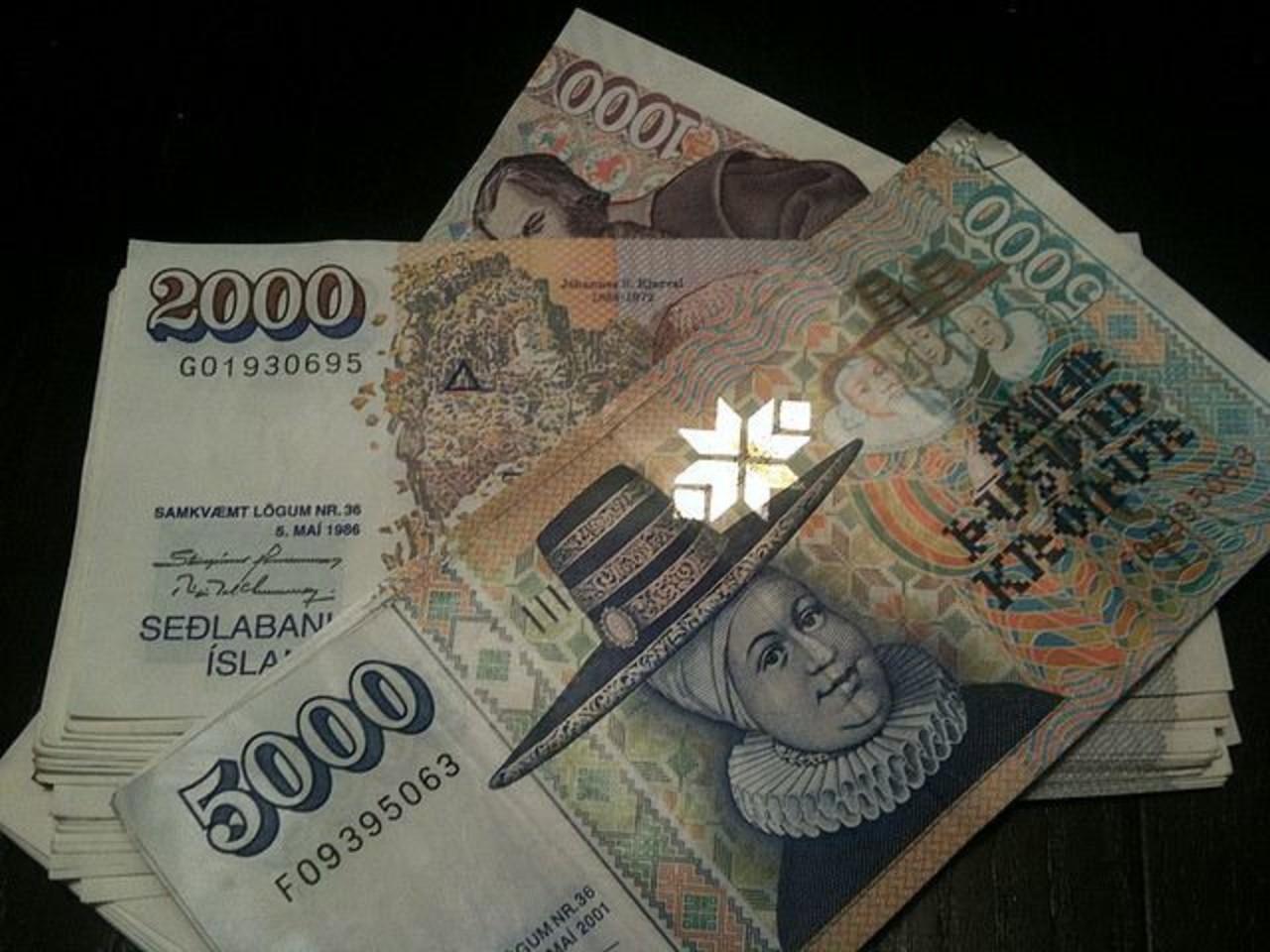 Icelandic currency, Króna, kr.