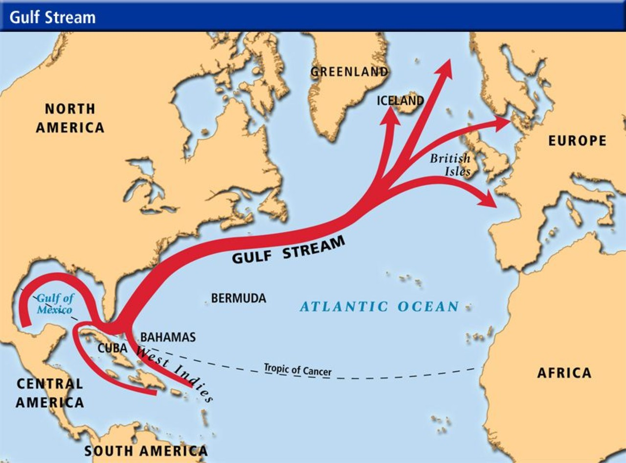 Map Of The Gulf Stream The Gulf Stream and its influence on Iceland's climate